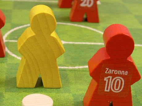 Meeples of the Street Soccer board game